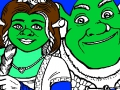 Game Shrek: Shrek en Fiona Coloring. Speel online